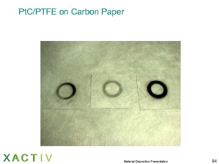 Pt. C/PTFE on Carbon Paper Material Deposition Presentation 84