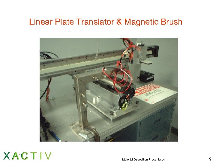 Linear Plate Translator & Magnetic Brush Material Deposition Presentation 91