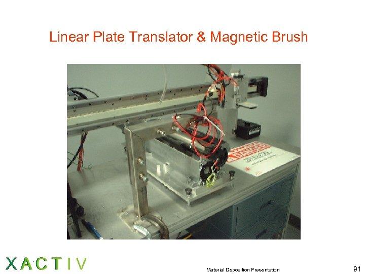 Linear Plate Translator & Magnetic Brush Material Deposition Presentation 91