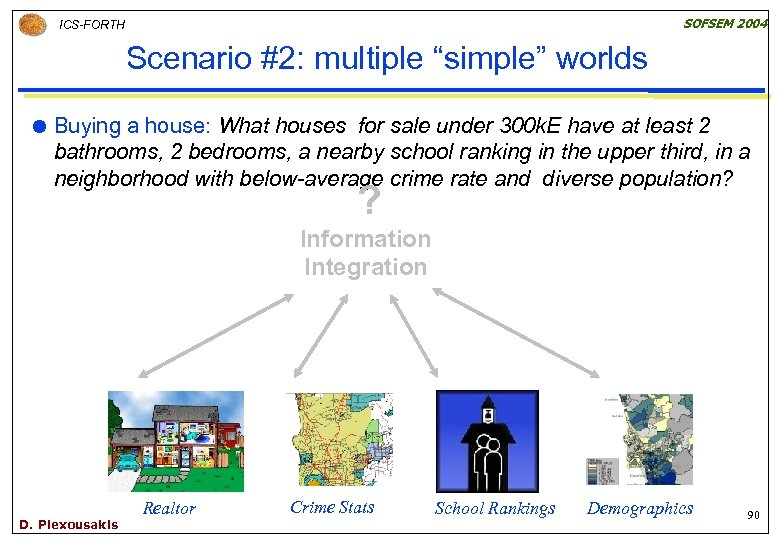 """SOFSEM 2004 ICS-FORTH Scenario #2: multiple """"simple"""" worlds Buying a house: What houses for"""