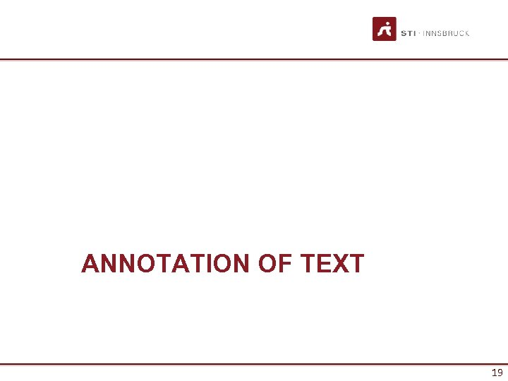 ANNOTATION OF TEXT 19
