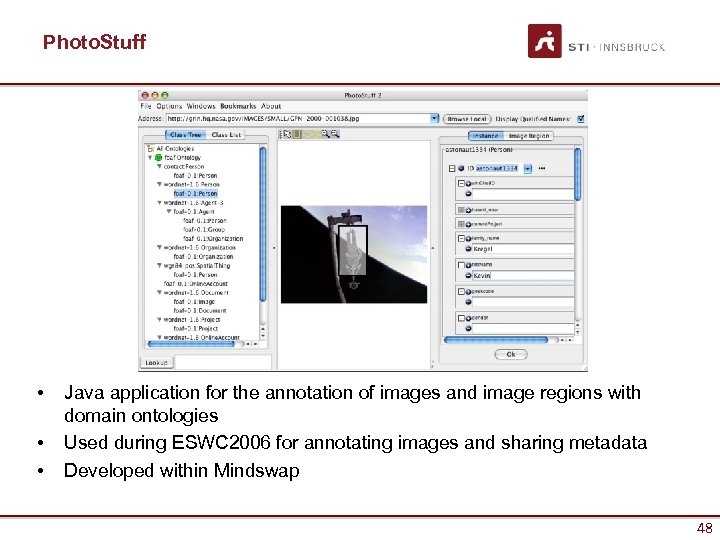 Photo. Stuff • • • Java application for the annotation of images and image