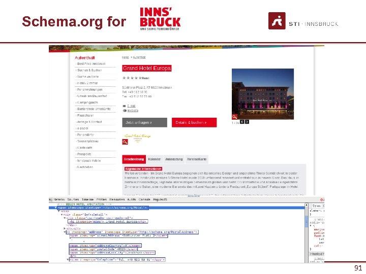 Schema. org for 91 91