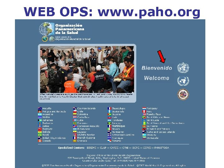 WEB OPS: www. paho. org
