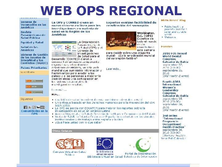 WEB OPS REGIONAL