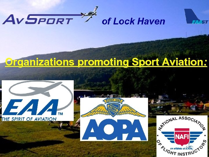 of Lock Haven Organizations promoting Sport Aviation: