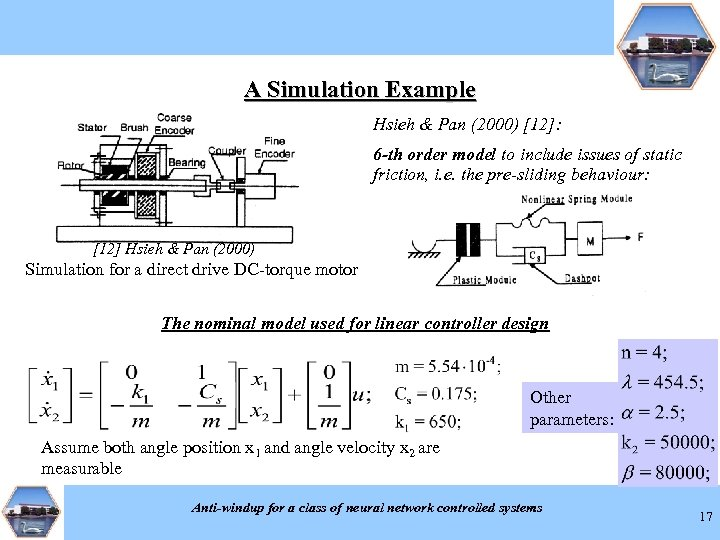 A Simulation Example Hsieh & Pan (2000) [12]: 6 -th order model to include