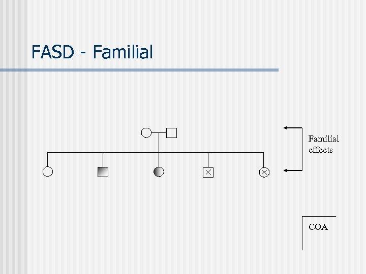 FASD - Familial effects COA