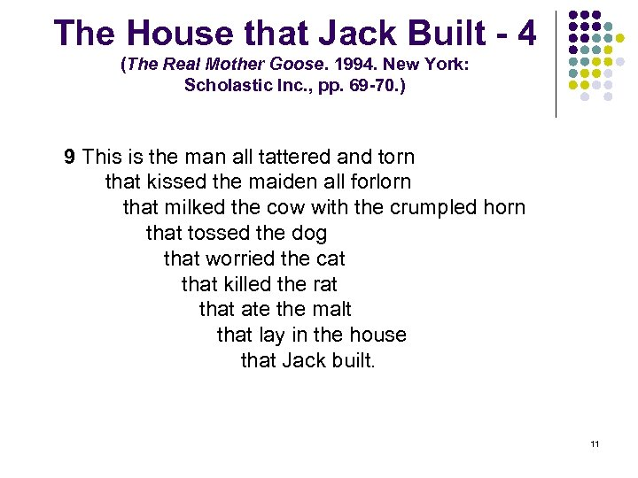 The House that Jack Built - 4 (The Real Mother Goose. 1994. New York:
