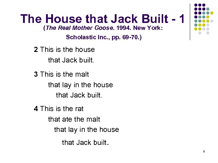 The House that Jack Built - 1 (The Real Mother Goose. 1994. New York: