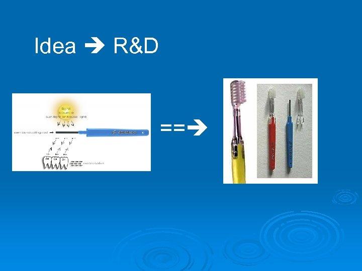 Idea R&D ==