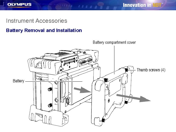 Instrument Accessories Battery Removal and Installation