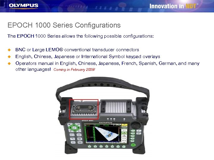 EPOCH 1000 Series Configurations The EPOCH 1000 Series allows the following possible configurations: u