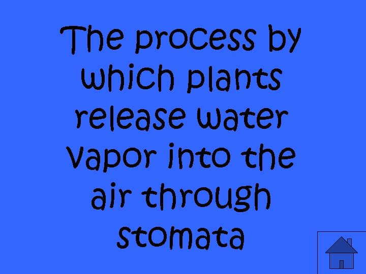 The process by which plants release water vapor into the air through stomata