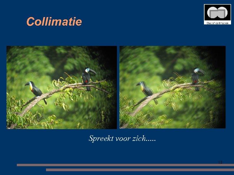 Collimatie Spreekt voor zich. . . 12