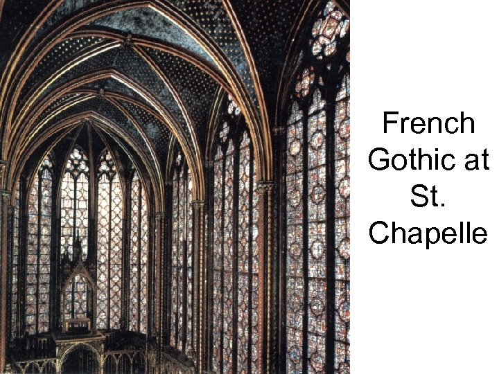 French Gothic at St. Chapelle