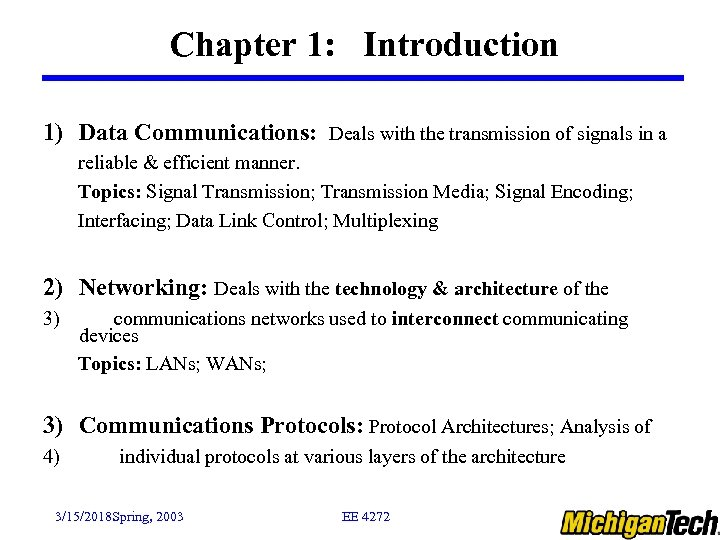 Data Communication And Networking Topics For Presentation