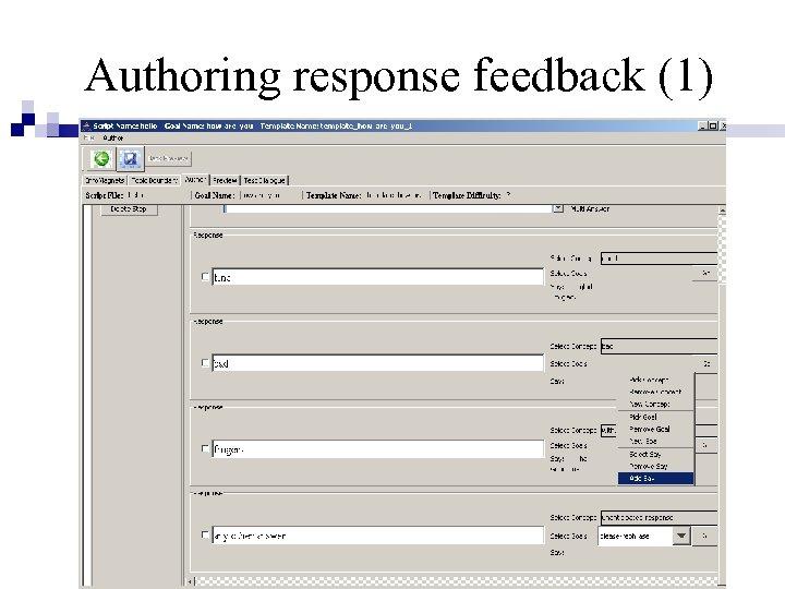 Authoring response feedback (1)