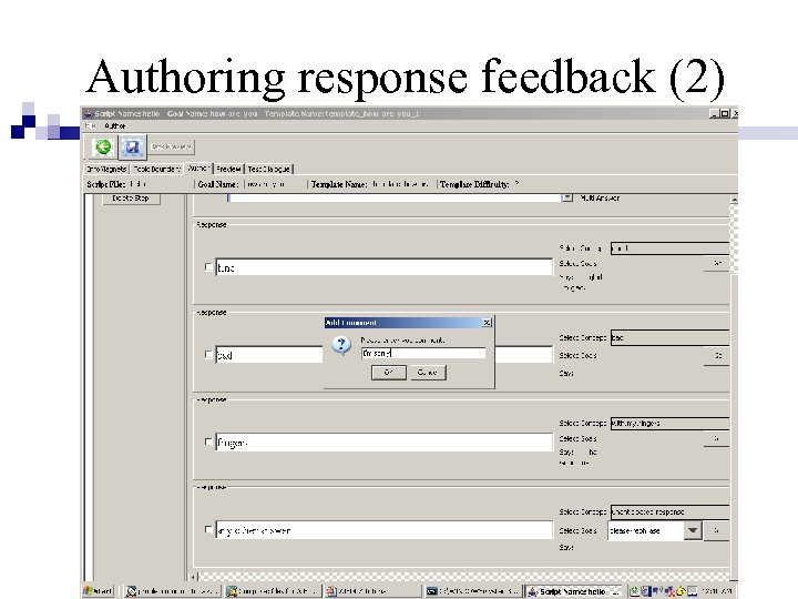 Authoring response feedback (2)