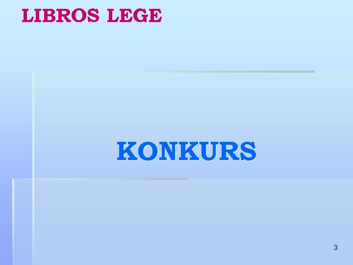 LIBROS LEGE KONKURS 3