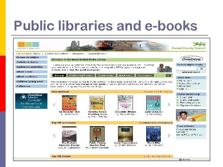 Public libraries and e-books