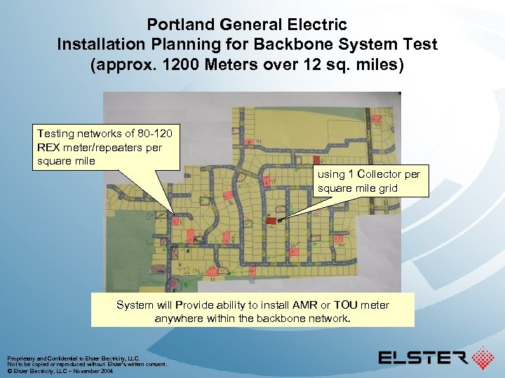 Portland General Electric Installation Planning for Backbone System Test (approx. 1200 Meters over 12