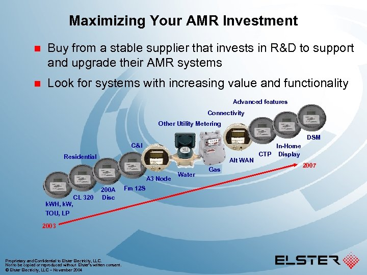 Maximizing Your AMR Investment n Buy from a stable supplier that invests in R&D