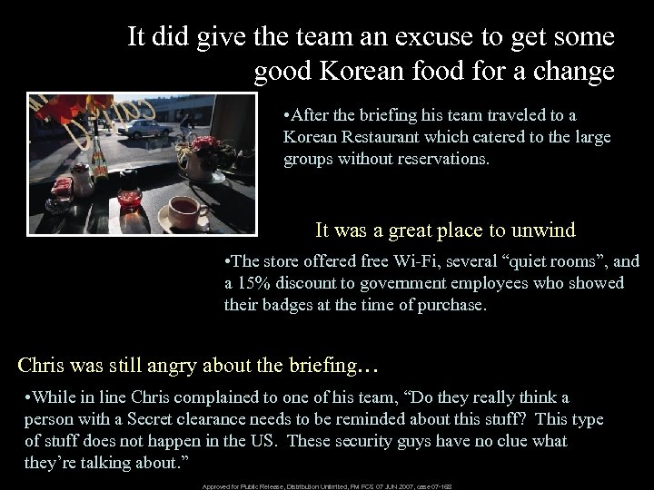It did give the team an excuse to get some good Korean food for