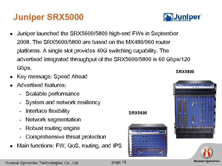 Security Level Secospace USG 9100 Competition Analysis Huawei