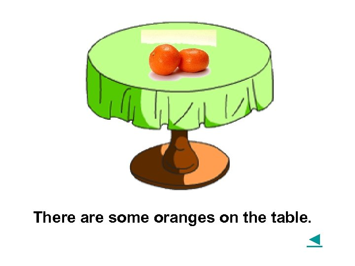 There are some oranges on the table. ◄