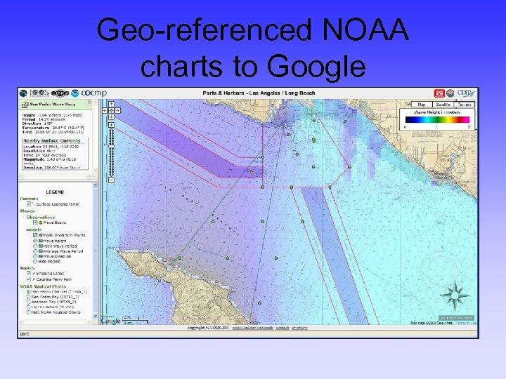 Geo-referenced NOAA charts to Google