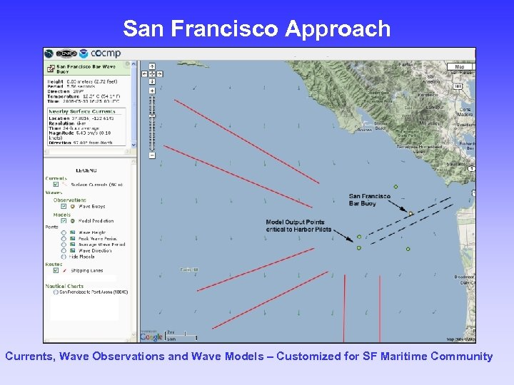 San Francisco Approach Currents, Wave Observations and Wave Models – Customized for SF Maritime