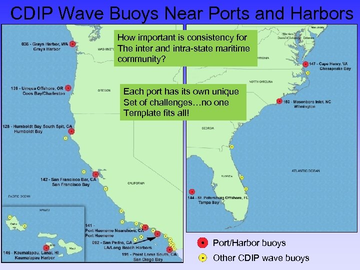 CDIP Wave Buoys Near Ports and Harbors How important is consistency for The inter