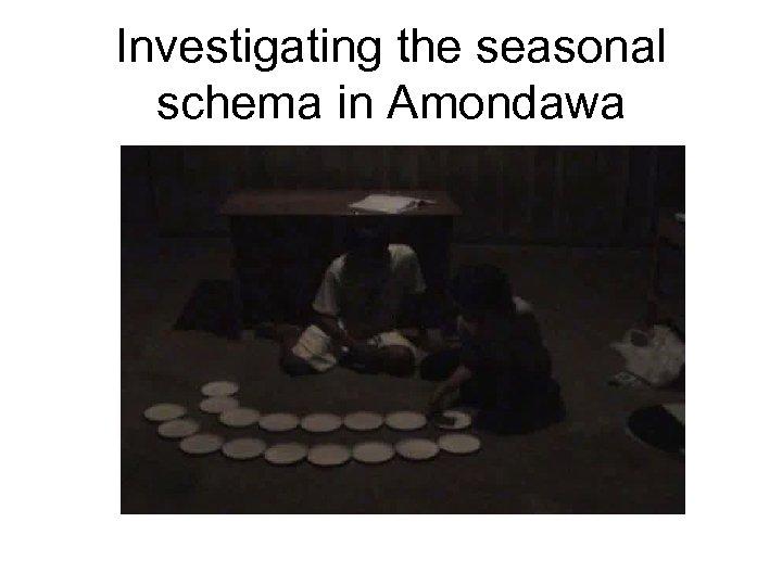 Investigating the seasonal schema in Amondawa