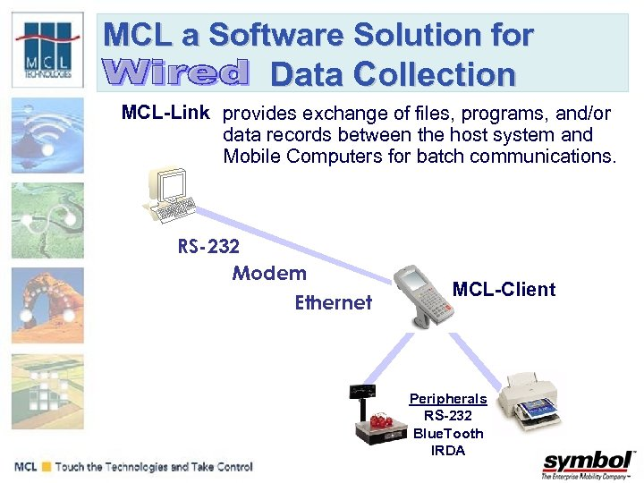 MCL a Software Solution for Data Collection MCL-Link provides exchange of files, programs, and/or