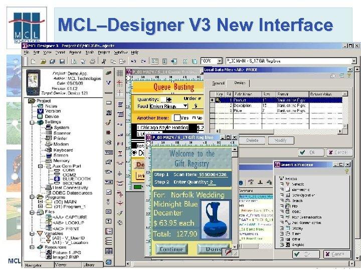 MCL–Designer V 3 New Interface