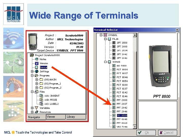 Wide Range of Terminals
