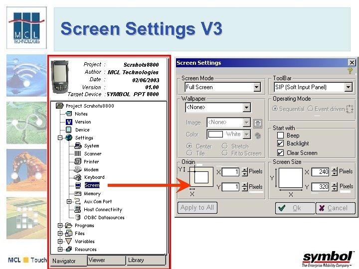 Screen Settings V 3
