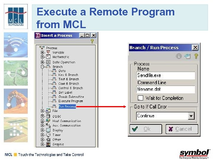 Execute a Remote Program from MCL