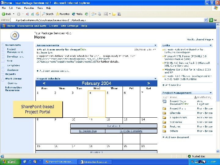 Project Portal Share. Point-based Project Portal