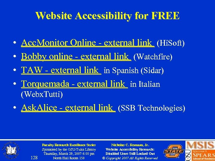 Website Accessibility for FREE • • Acc. Monitor Online - external link (Hi. Soft)