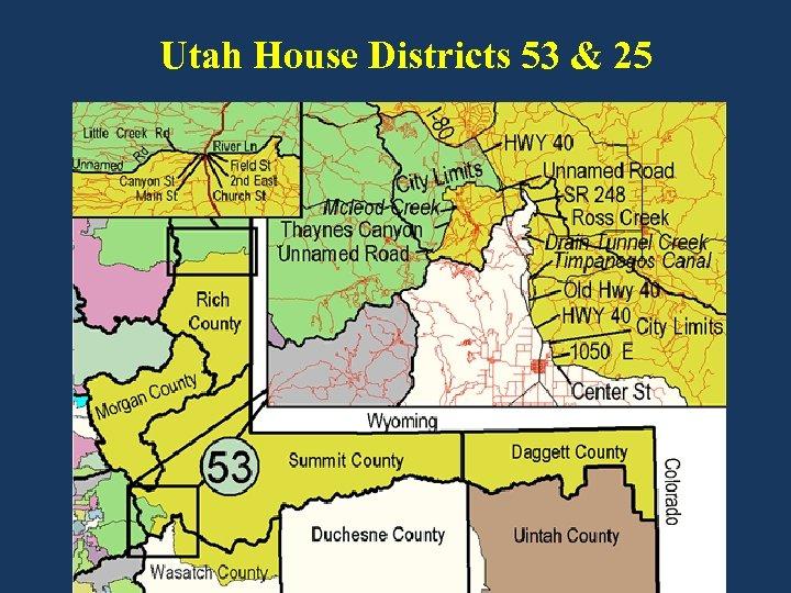 Utah House Districts 53 & 25