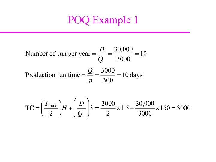 POQ Example 1
