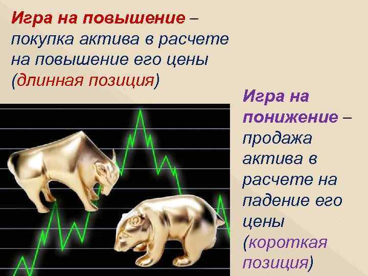 Игра на повышение – покупка актива в расчете на повышение его цены (длинная позиция)