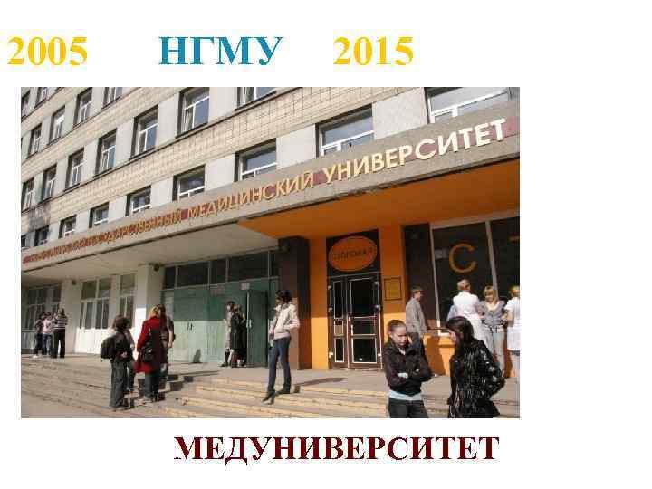 2005 НГМУ 2015 МЕДУНИВЕРСИТЕТ