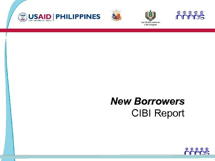 New Borrowers CIBI Report