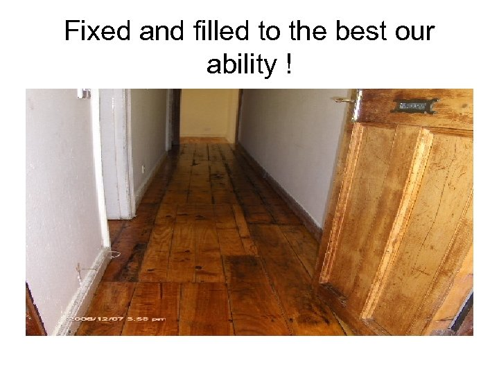 Fixed and filled to the best our ability !