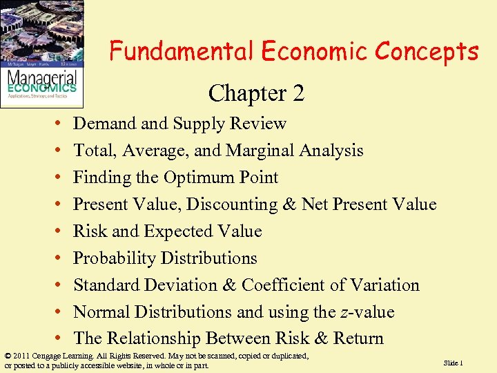 Fundamental Economic Concepts Chapter 2 • • • Demand Supply Review Total, Average, and