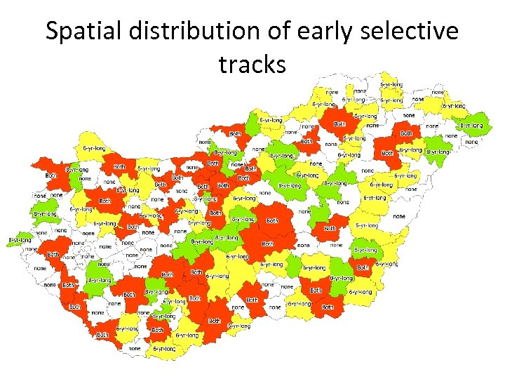 Spatial distribution of early selective tracks