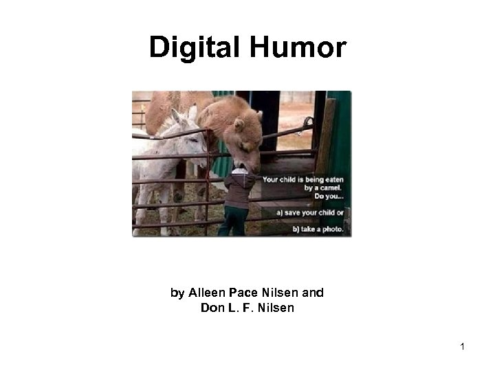 Digital Humor by Alleen Pace Nilsen and Don L. F. Nilsen 1